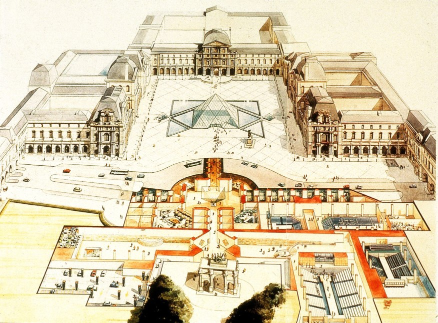 the Grand Louvre project